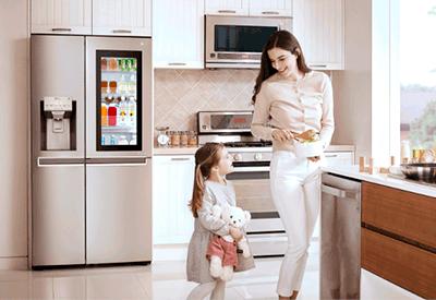 Kühlschrank Lg : Lg u einstaview door in dooru c kühlschrank ab verfügbar