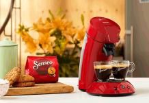 Philips: Schnell zubereiteter, aromatischer Kaffee aus einer stilvollen Maschine, je nach Wunsch fließt dieser in eine oder zwei Tassen gleichzeitig – so präsentiert sich