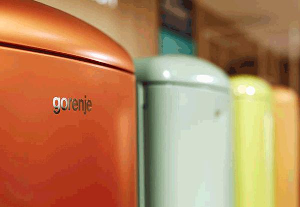 Retro Kühlschrank Rot Gorenje : Gorenje ork ol stand kühl gefrier kombination olive grün