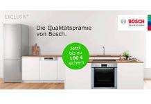Bosch bedankt sich bei seinen Exclusiv Kunden mit bis zu 100 Euro Cashback-Prämie