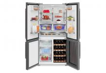 Grundig GWN 21210 X: Side-by-Side Kühlschrank mit integriertem Weinkühler