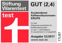 Krups erhält Bestnoten von Stiftung Warentest
