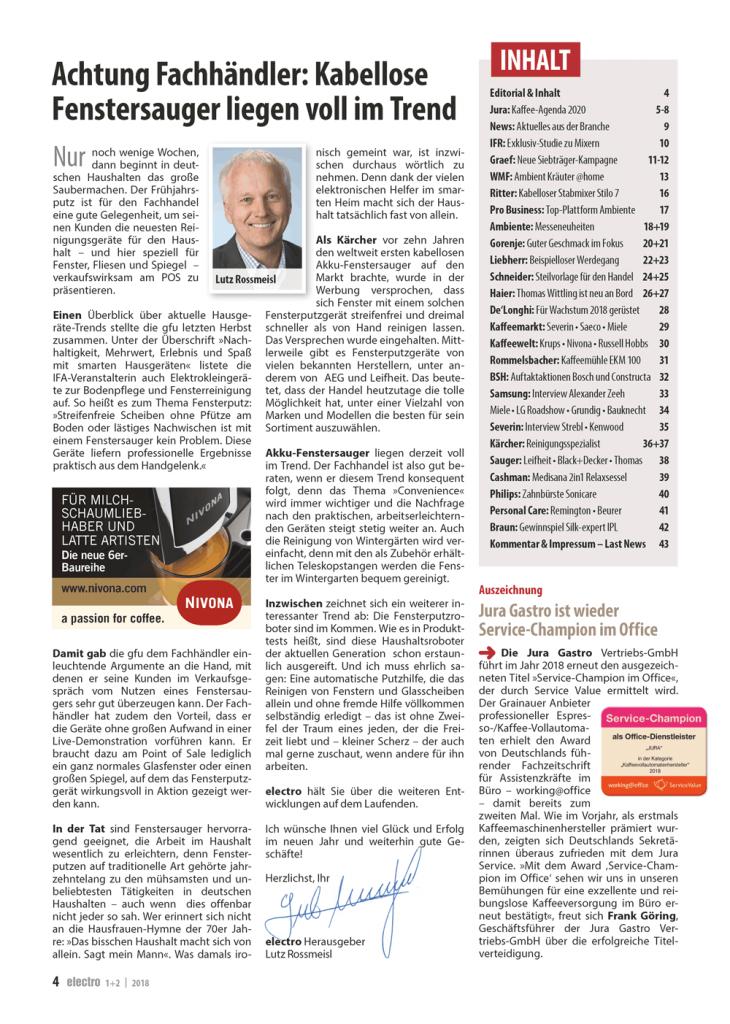 CE-Markt-electro 1+2/18 Inhaltseite