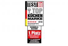 """Rommelsbacher erhält erneut das Siegel """"Top Küchen Marke 2018"""""""