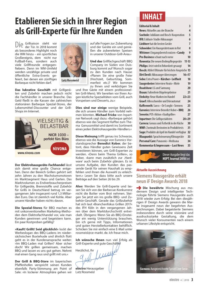 CE-Markt-electro 4/18 Inhaltseite