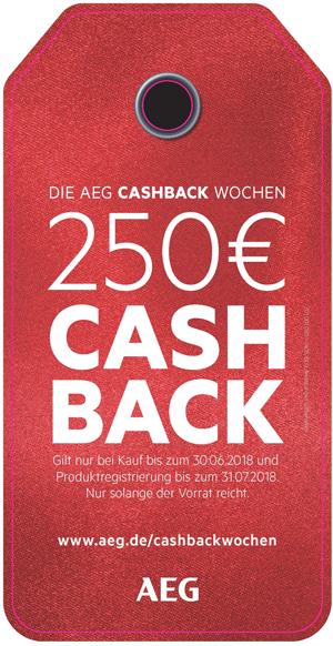 AEG veranstaltet Cashback-Wochen