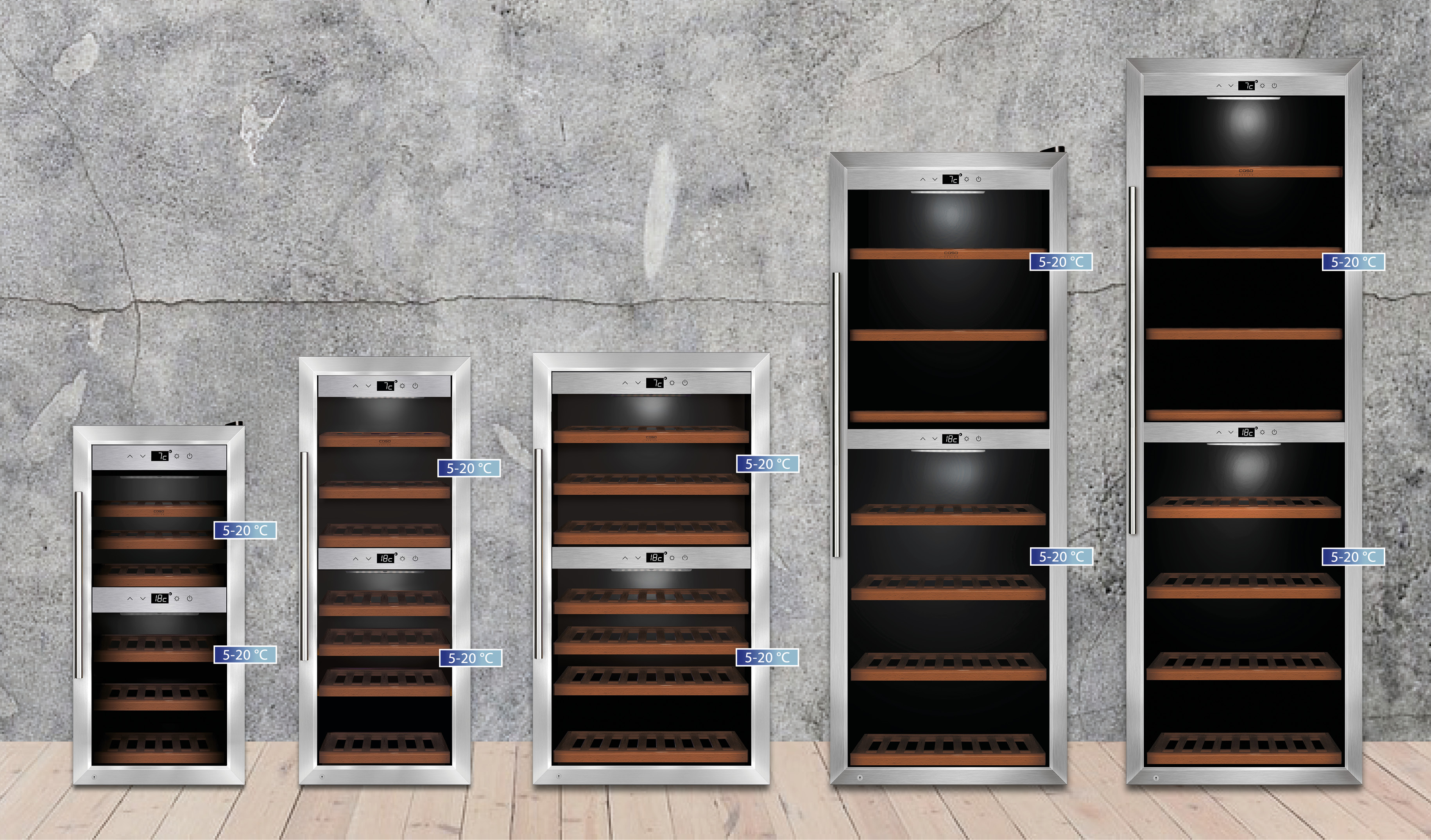 Caso Weinkühlschränke: Hier werden Weine richtig gelagert | ce-electro