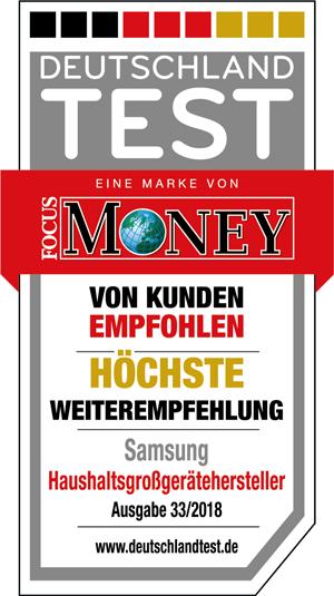 """Samsung Siegel """"Höchste Weiterempfehlung"""""""