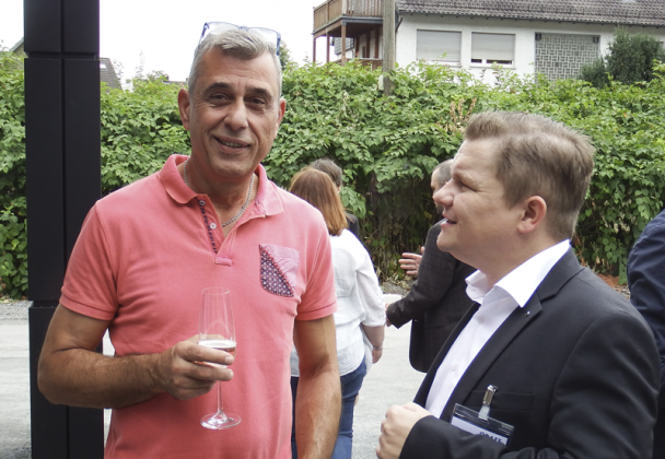 Ralf Heinitz mit einem Gast