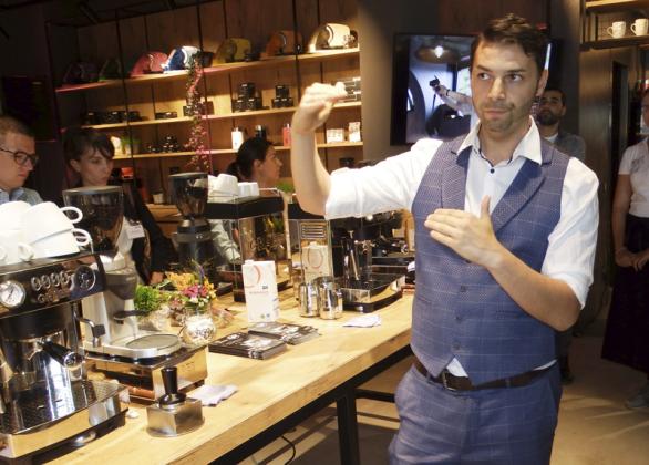 Anschaulicher Kaffee-Workshop