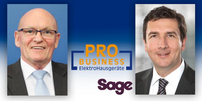 Berthold Niehoff (Pro Business, links) und Gerd Holl (Sage, rechts)