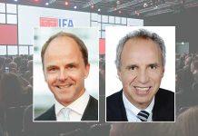 Dr. Christian Göke, CEO Messe Berlin (links; Foto: Messe Berlin), Hans-Joachim Kamp, Aufsichtsratsvorsitzender der gfu (Foto: gfu)
