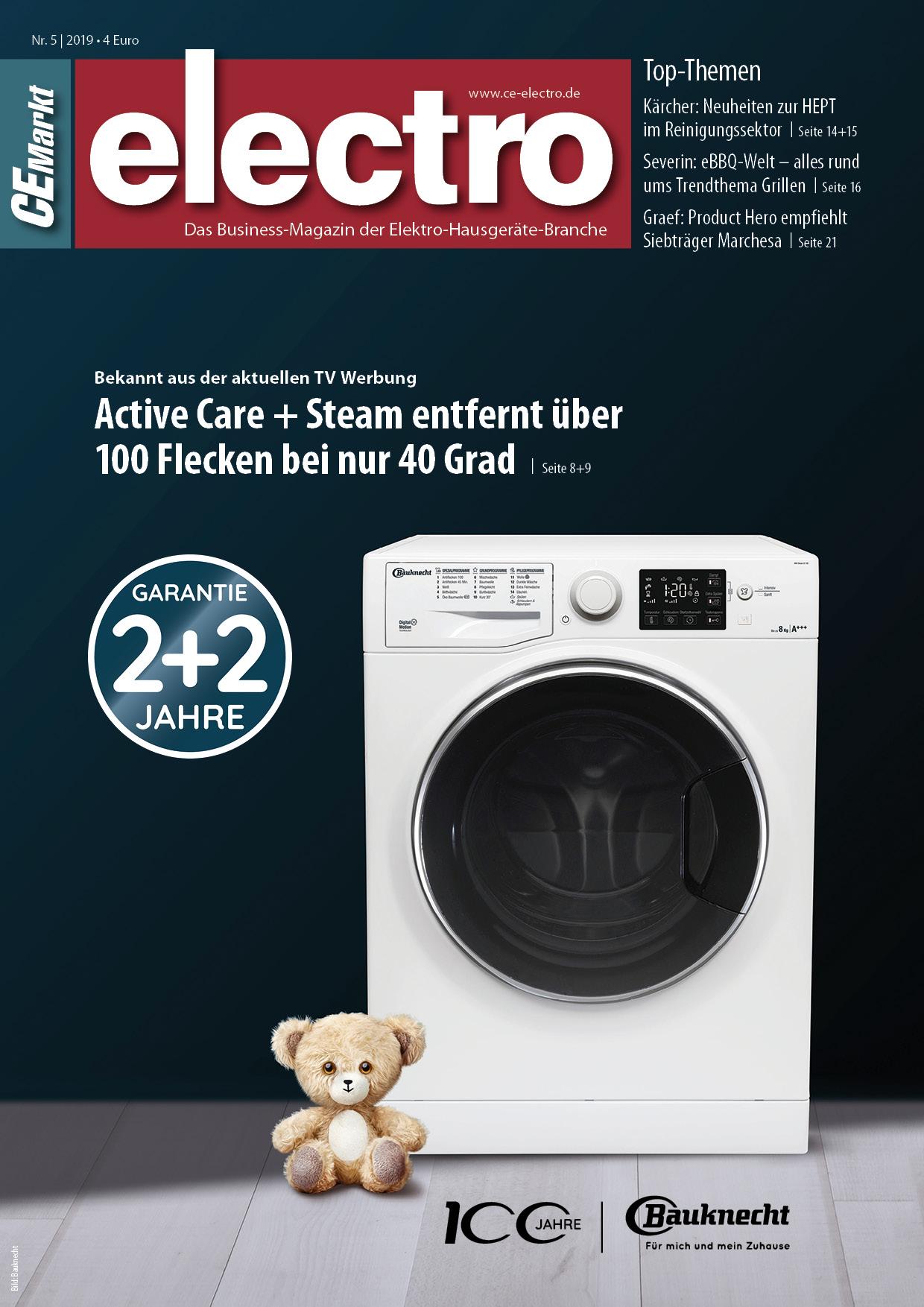 CE-Markt electro Titelseite des Hefts 5/2019.
