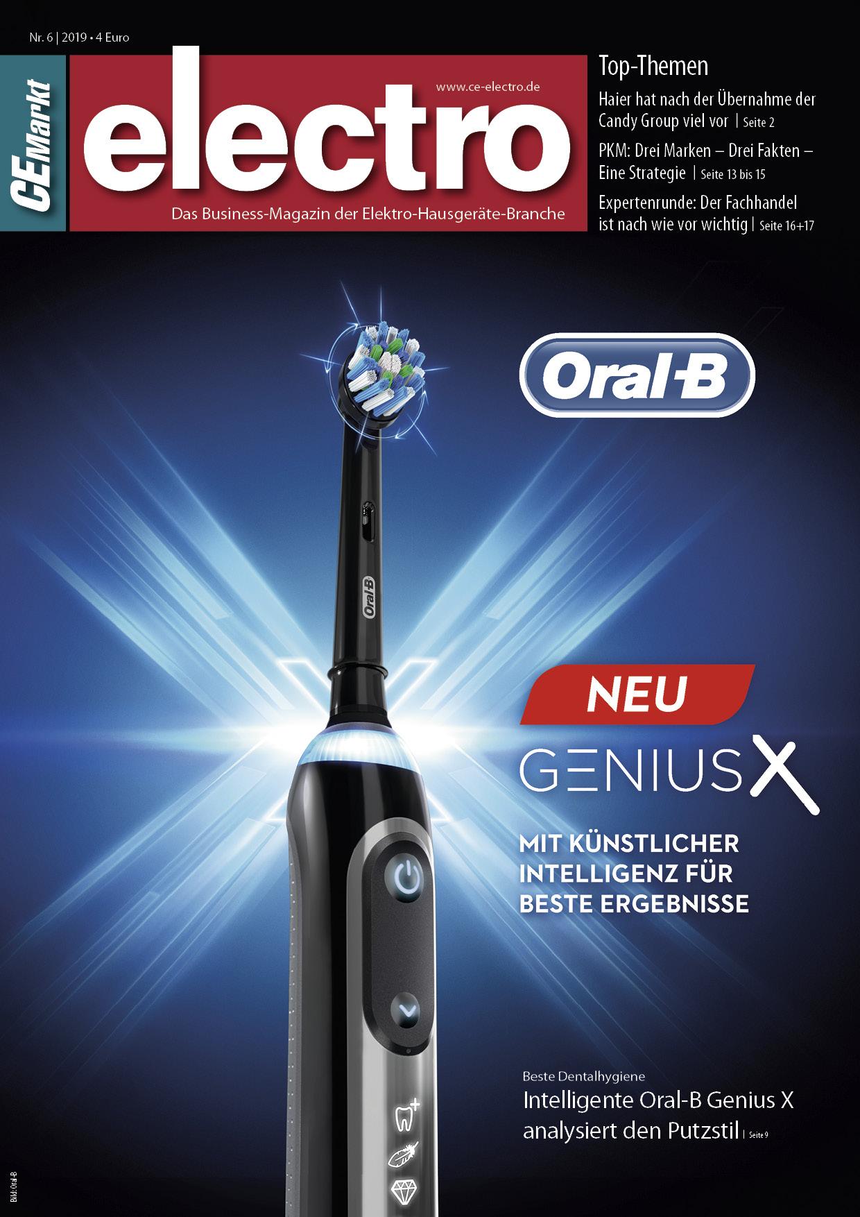 CE-Markt electro Titelseite des Hefts 6/2019.