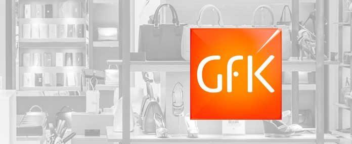 GfK-Logo mit Damenhandtaschen Shopping