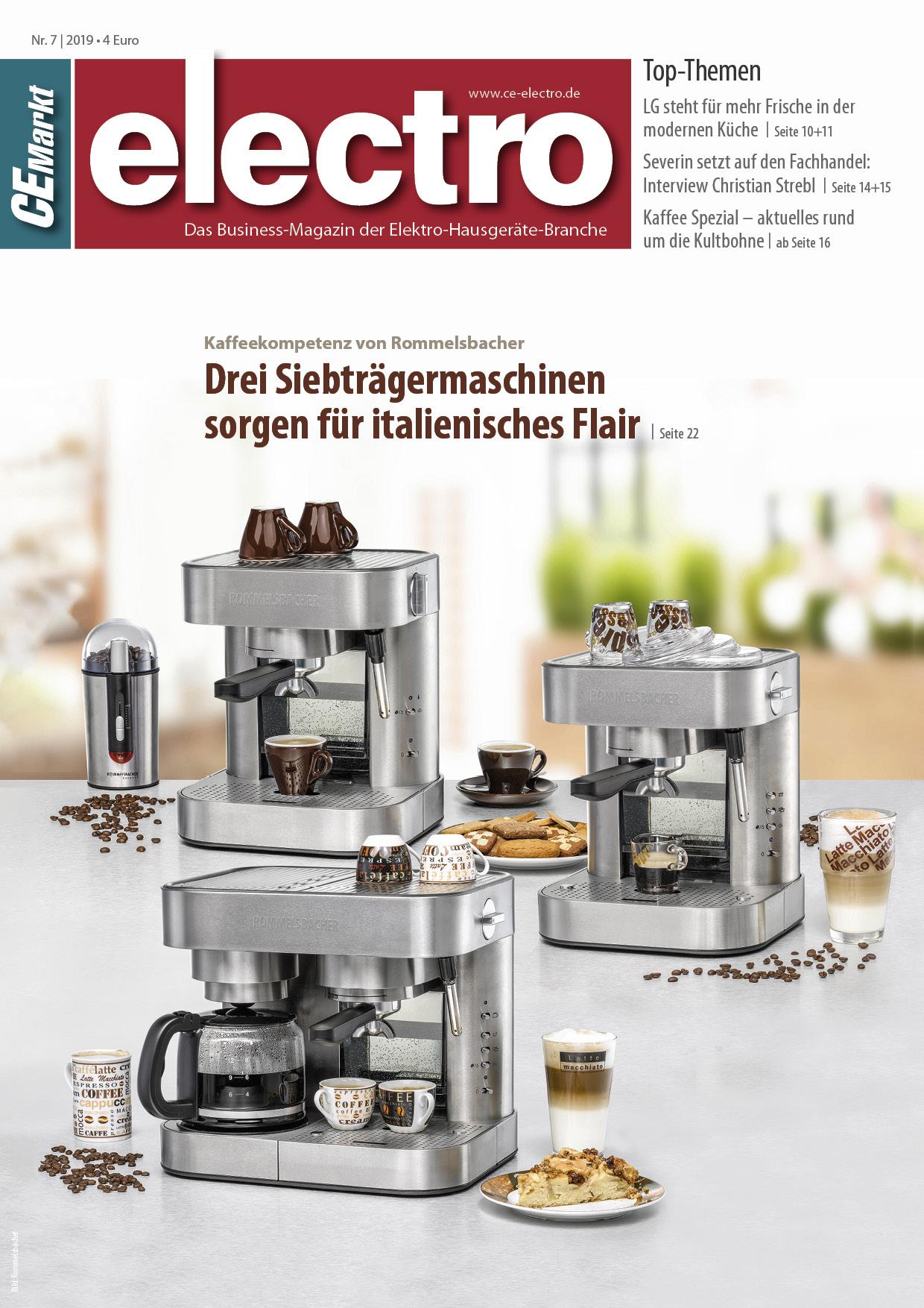 CE-Markt electro Titelseite des Hefts 7/2019.