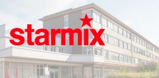 Starmix Logo und Firmengebäude. Foto: Starmix