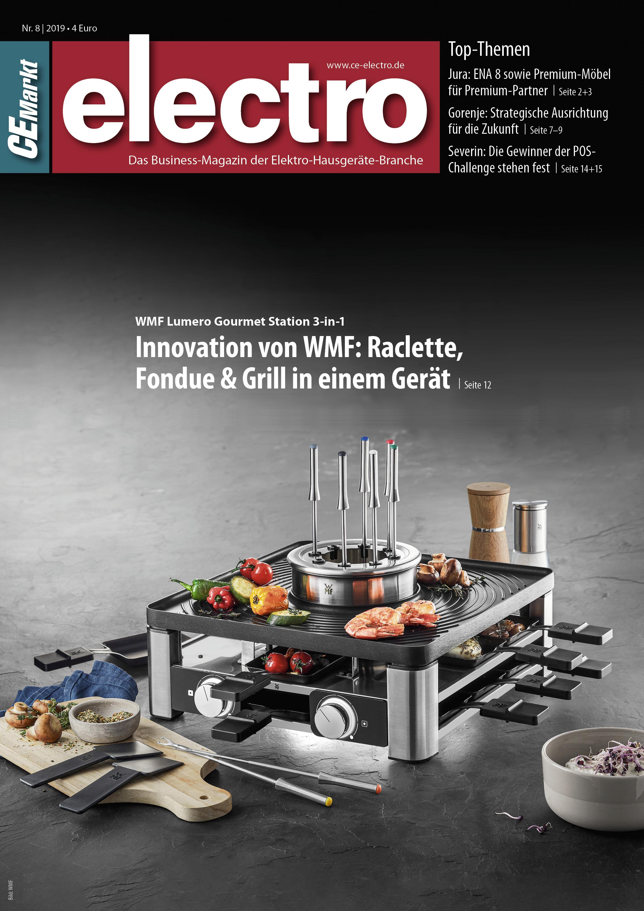 CE-Markt electro Titelseite des Hefts 8/2019.