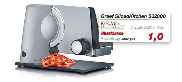 Graef Allesschneider S32000 mit Logo Küche&Haushalt. Foto: Graef