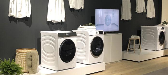 Hisense Wäschepflege, präsentiert auf der IFA 2019. Foto: Hisense