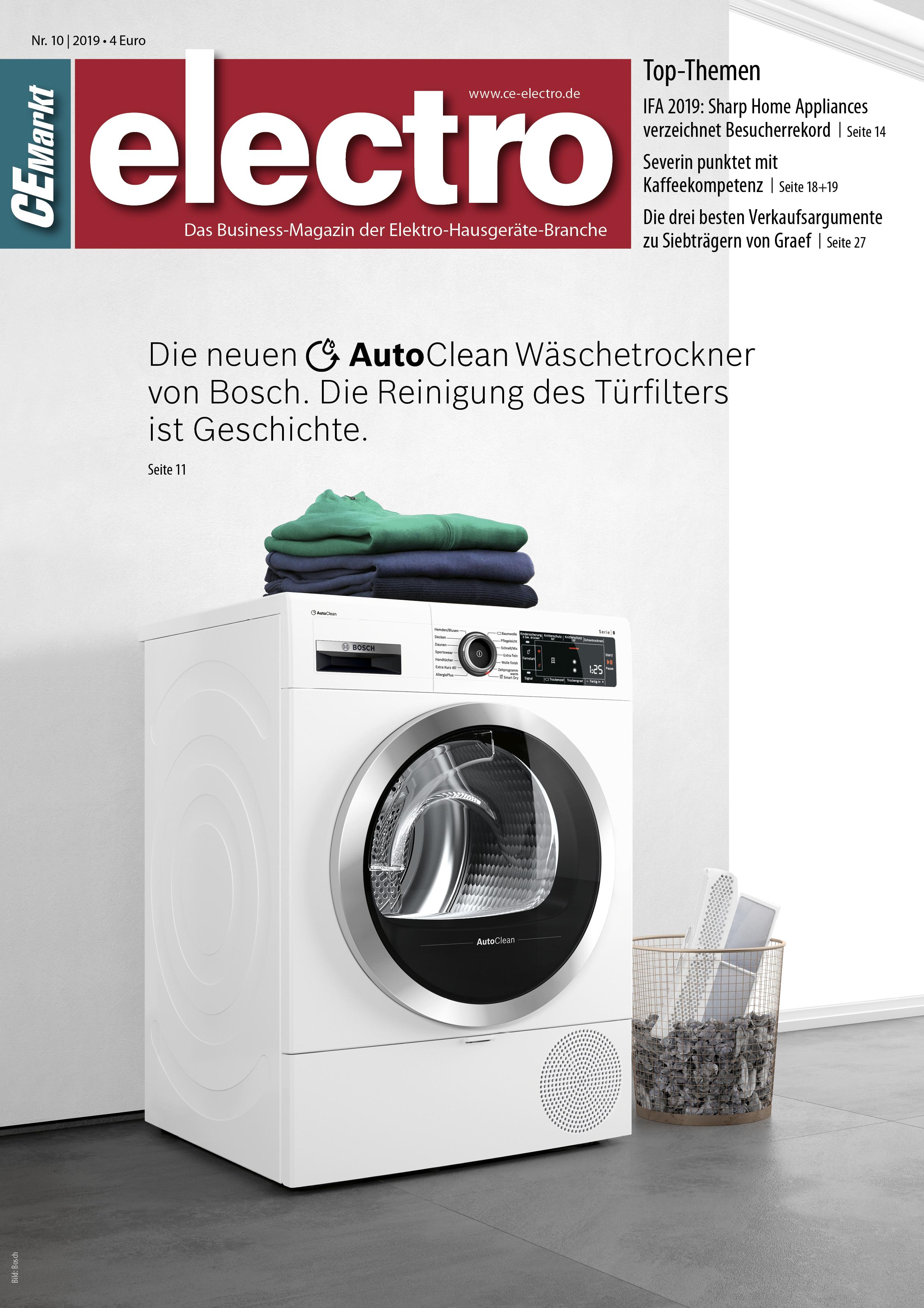 CE-Markt electro Titelseite des Hefts 10/2019.