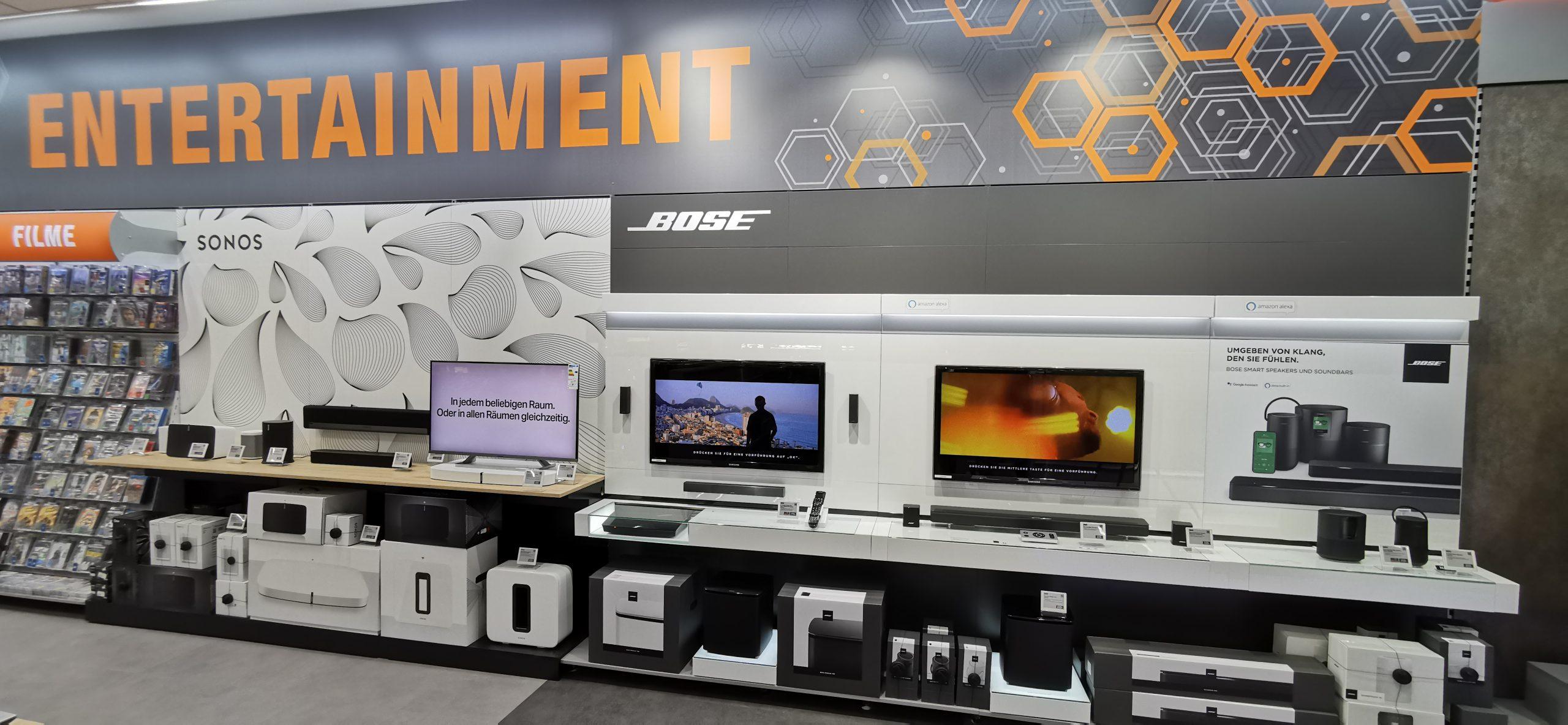 Shop-in-Shop-System von Sonos und Bose