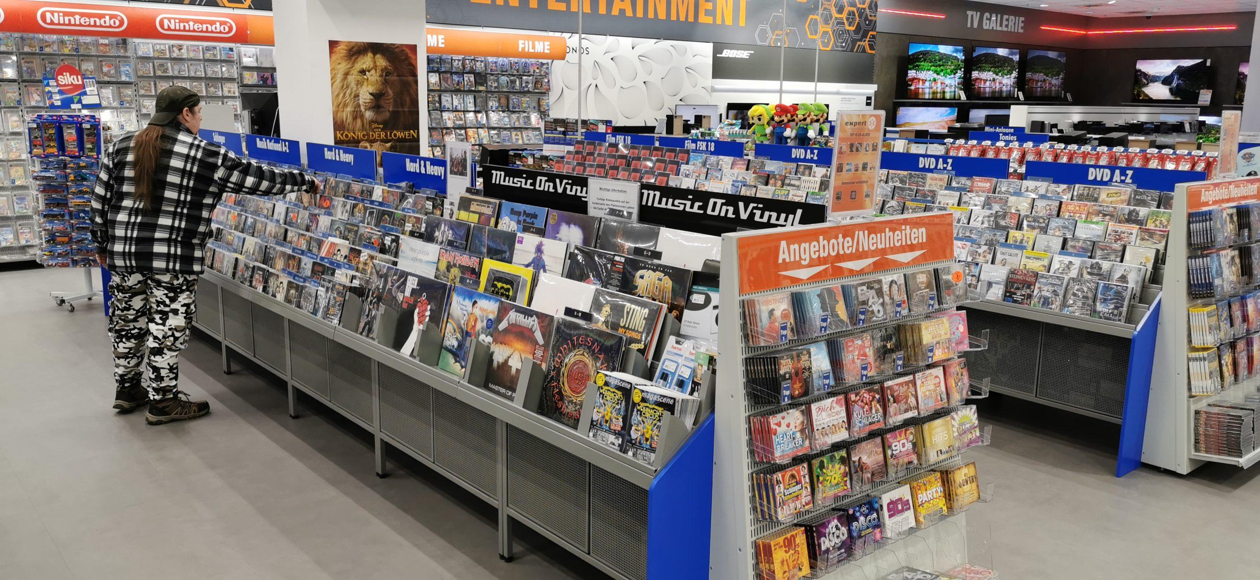 CDs, DVDs und Schallplatten