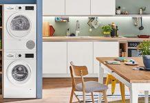 Constructa Waschmaschine und Trockner in der Wohnküche. Foto: Constructa