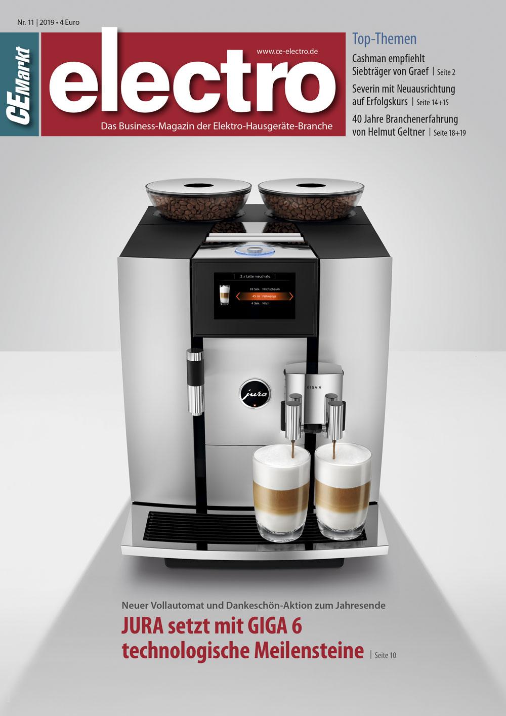 CE-Markt electro Titelseite des Hefts 11/2019.