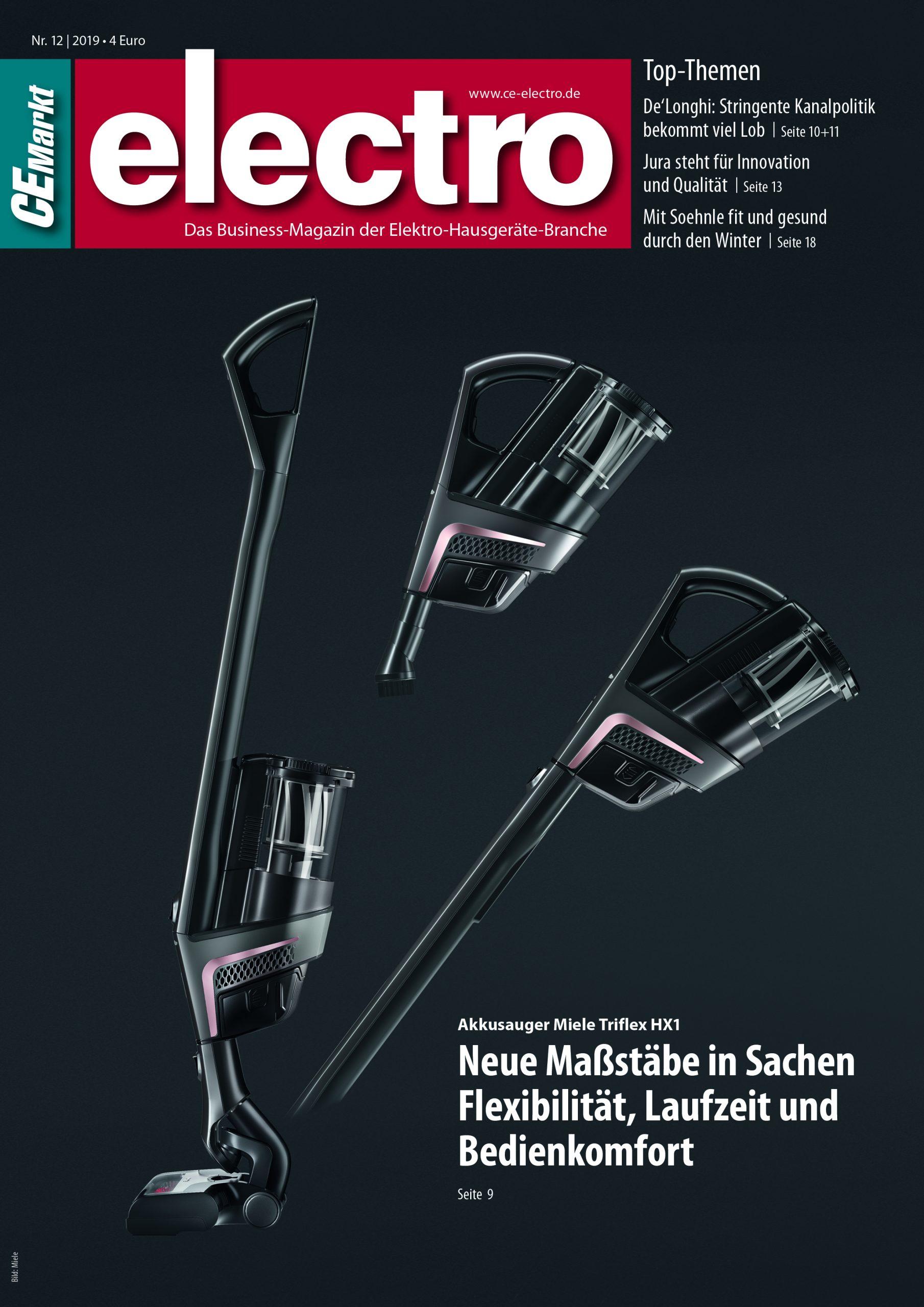 CE-Markt electro Titelseite des Hefts 12/2019.