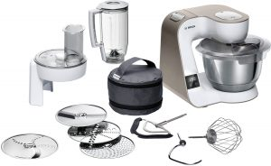 Zubehör für die Bosch Küchenmaschine Mum 5. Foto: Bosch