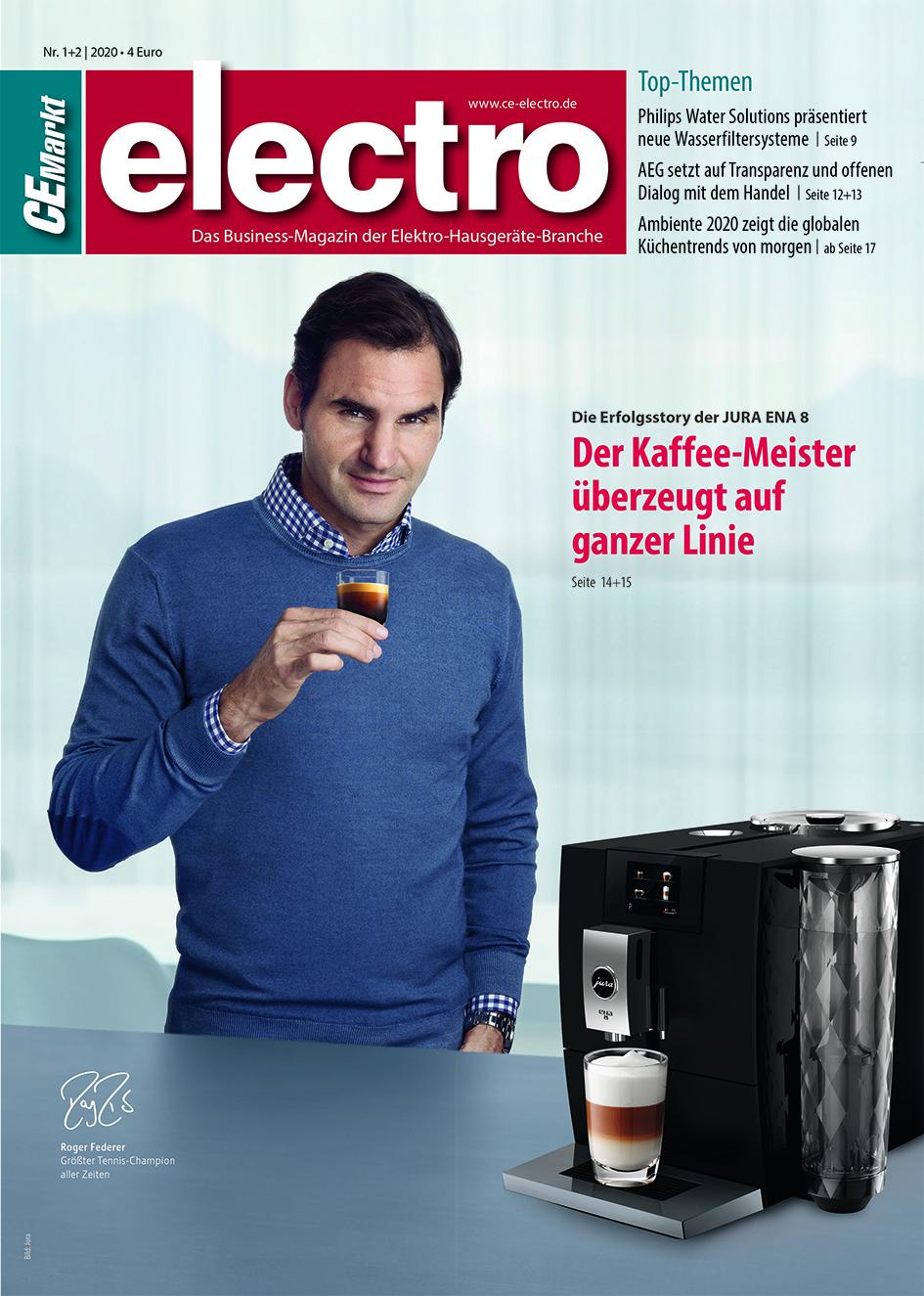 CE-Markt electro Titelseite des Hefts 1/2020.