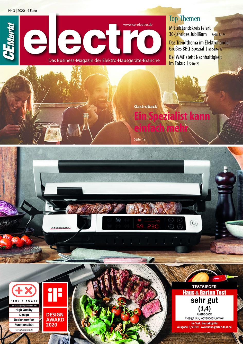 CE-Markt electro Titelseite des Hefts 3/2020.