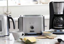 Russell Hobbs Frühstückserie Velocity auf Küchenanrichte. Foto: Russell Hobbs