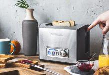 Gastroback Design Toaster Pro 2S wird angeschaltet. Foto: Gastroback