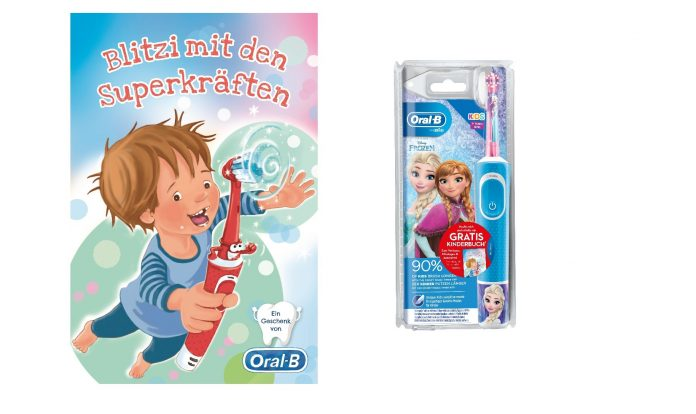 Oral-B Blitzi Buchaktion. Foto: Oral-B