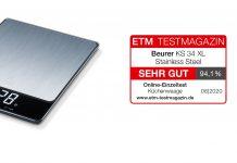 Beurer Waage und ETM Test Logo. Foto: Beurer
