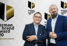 Strebl und Steinberg auf German Brand Award 2020. Foto: Kay Herschelmann
