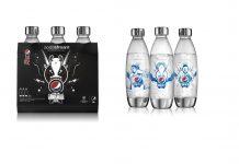 Sodastream und Pepsi MAX, UEFA Champions League Sammelflaschen. Foto: Sodastream