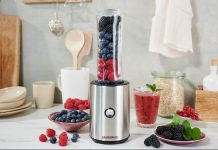 Gastroback Design Smoothie Maker Mix and Go in der Küche. Foto: Gastroback