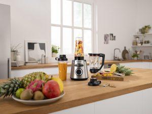 Bosch Standmixer VitaPower Serie 4 Teile in der Küche. Foto: Bosch