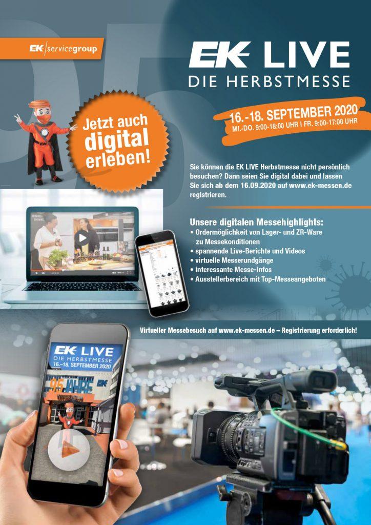 EK Servicegroup mit Digitale Messe 2020. Foto: EK Servicegroup
