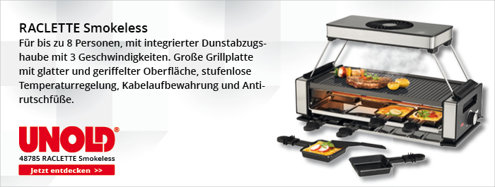 Unold - Raclette - Smokeless