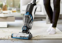 Bissell CrossWave Cordless Max in Aktion. Foto: Bissell
