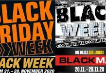 Collage: Black Friday Angebote 2020