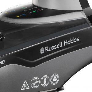 Temperaturkontrolle gelingt mit dem Dampfbügeleisen von Russell Hobbs ganz einfach dank Farbsteuerung. Foto: Russell Hobbs