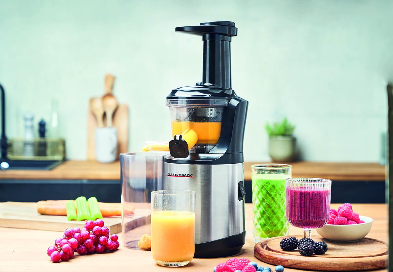Gastroback Themenspecial GesundeErnaehrung Slow Juicer Advanced Vital. Foto: Gastroback