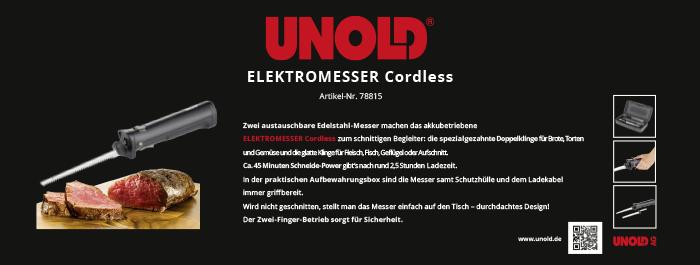 Banner Unold Elektromesser cordless