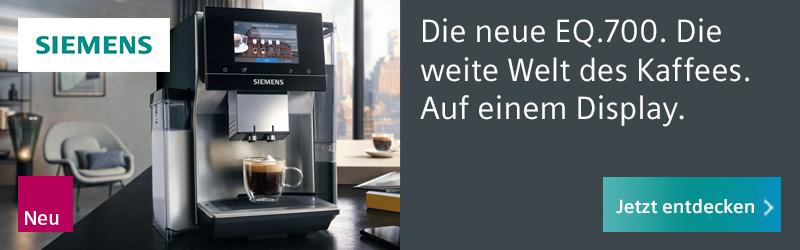 Billboard-Banner Siemens Kaffeemaschine EQ.700